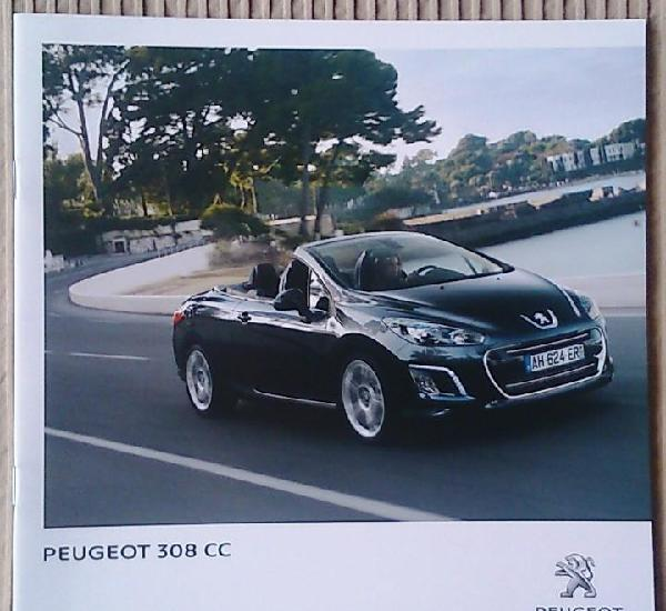 Catálogo peugeot 308 cc. marzo 2013. en español