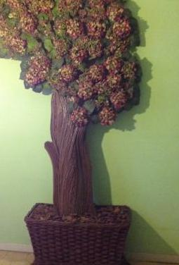 Composición floral árbol
