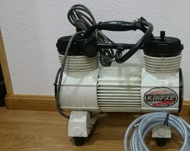 Compresor o turbina de dos pistones mar-75 1hp.