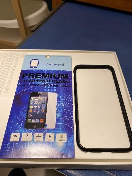 Cristal templado y funda bumper iphone 6s
