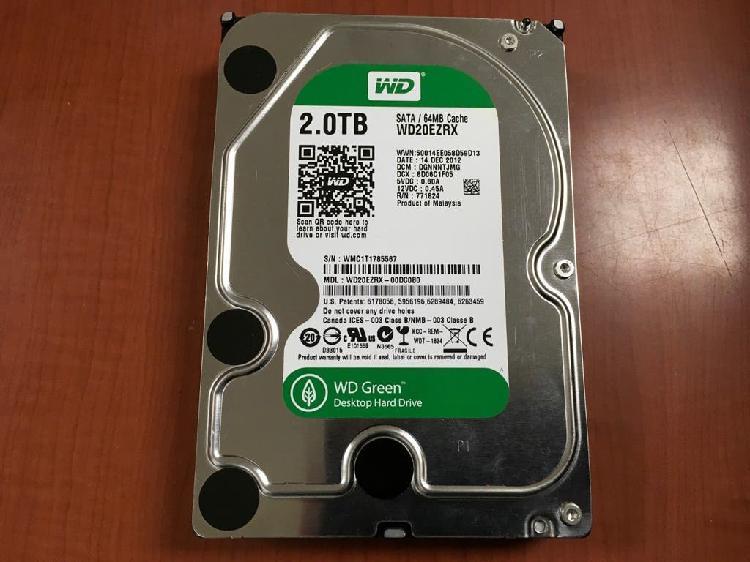 Disco duro 2tb wd green como nuevo