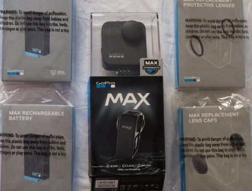 Gopro max, baterías y accesorios