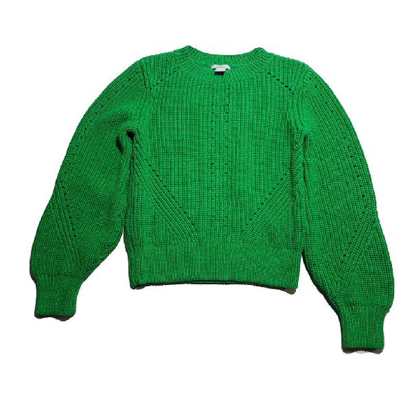 H&m jersey de punto grueso verde vivo t:s