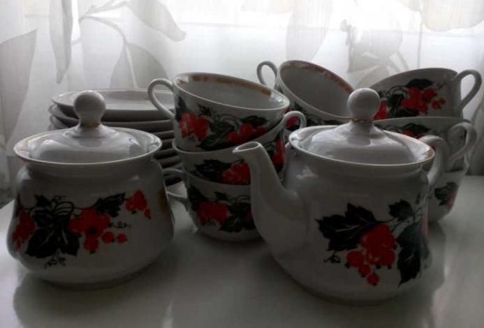 Juego de té porcelana