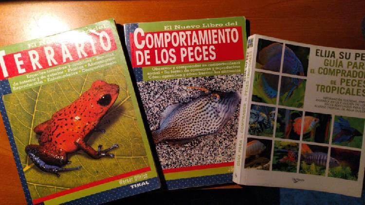 Libros: 1 terrario + 2 acuario