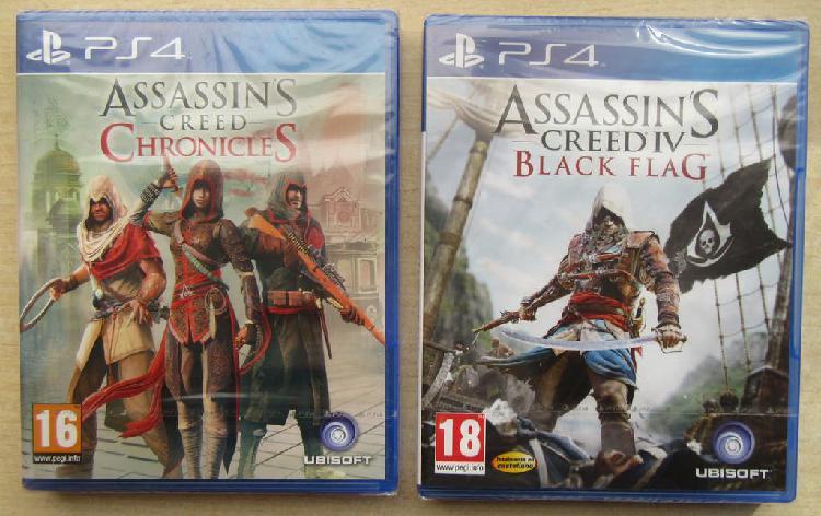 Lote 2 juegos ps4 assassin's creed. nuevos