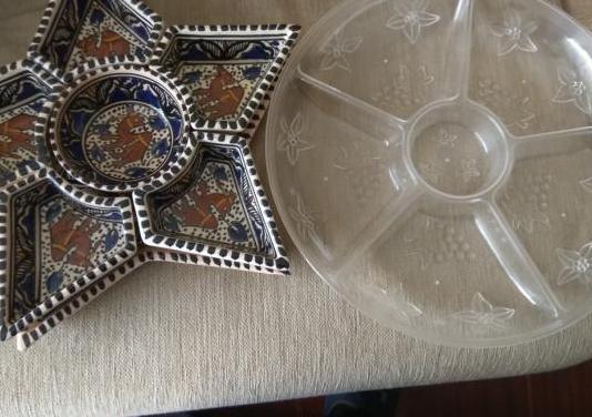 Lote 2 bandejas porcelana