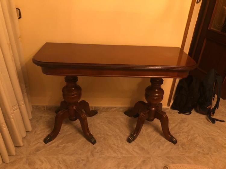 Mesa salon madera plegable