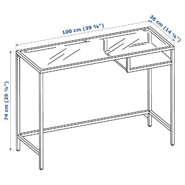 Mesa/escritorio de cristal