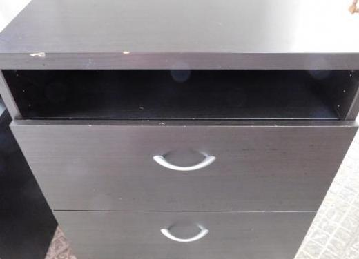 Mueble tv madera negra
