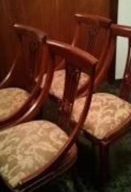 Oportunidad - sillas madera maciza tapizadas