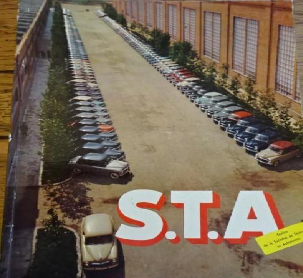 Revista s.t.a. numero 28 portada seat 1400 - presentacion