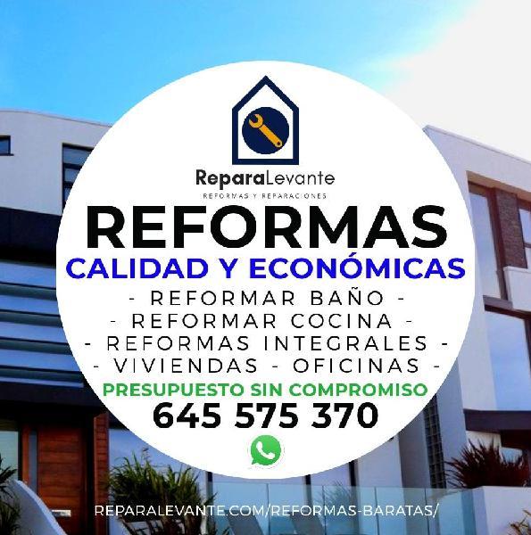Reformas y reparaciones