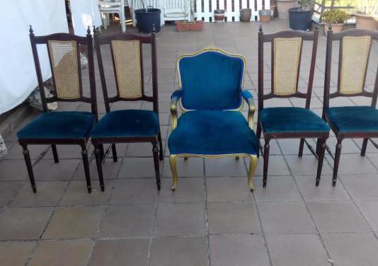 Sillas estilo clásico con mesa de marmol