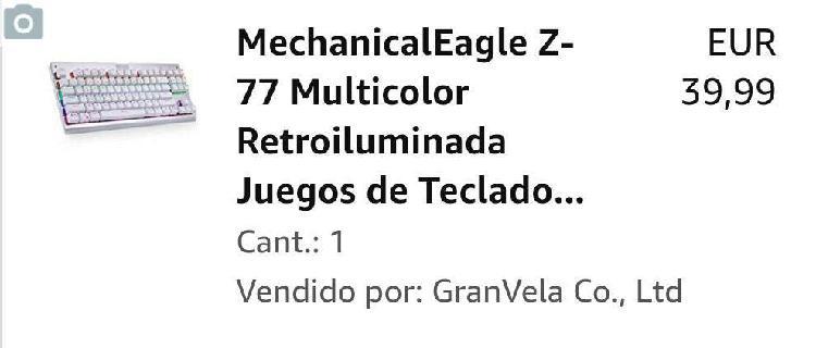 Teclado mecánico eagle us layout.