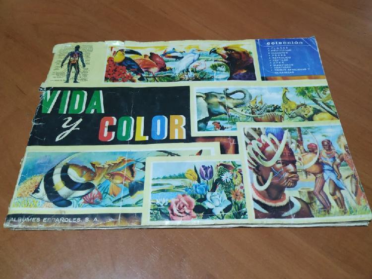 Lbum cromos año 1965 vida y color.