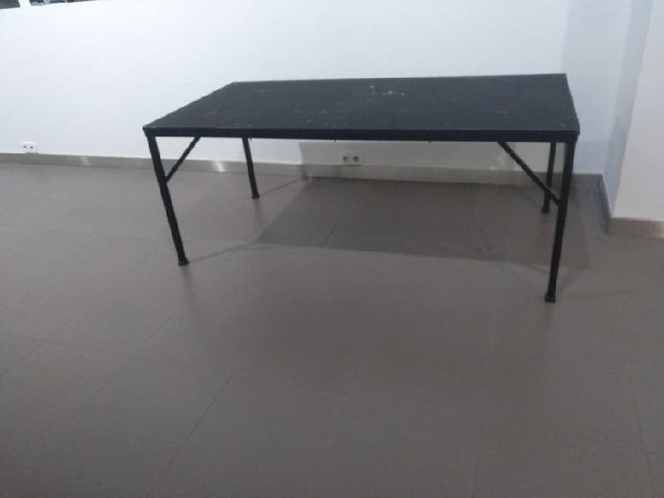 Mesa xl madera+hierro ganga