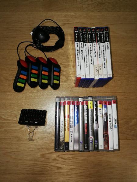 Pack juegos ps3, ps2, mandos buzz y teclado.