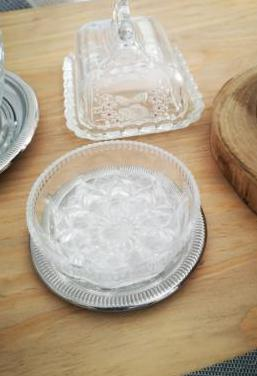 Set de cena cristal de bohemia