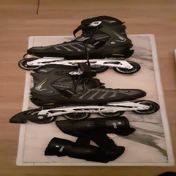 Vendo patines de línea nuevos y doy muñequeras