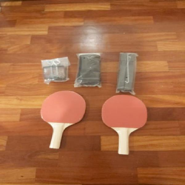 2 palas de ping pong y red montable