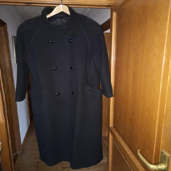 Abrigo de pura lana negro