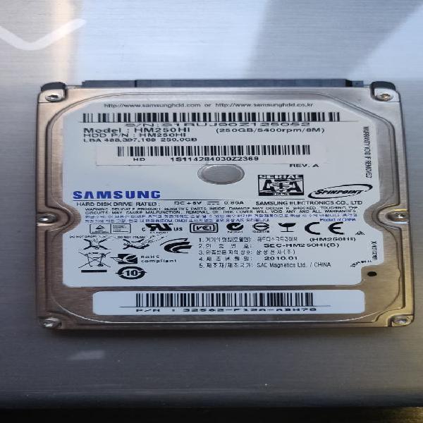 Disco duro sata 2.5 de 250 gb