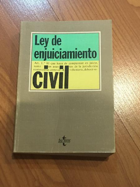Ley de enjuiciamiento civil tecnos 1992