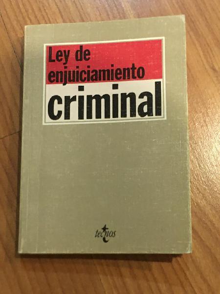 Ley de enjuiciamiento criminal tecnos 1992