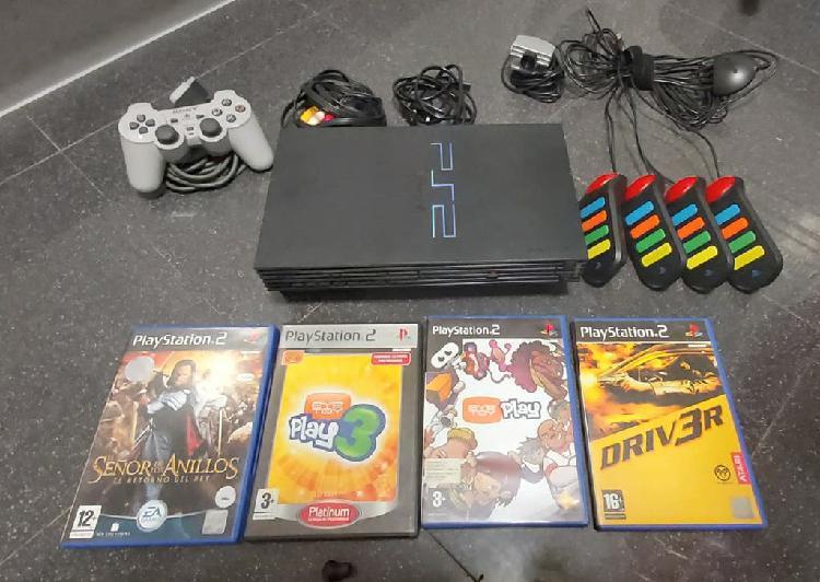 Lote ps2 + accesorios + juegos