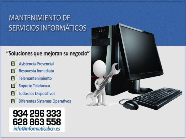 Mantenimiento informático para particulares o empr