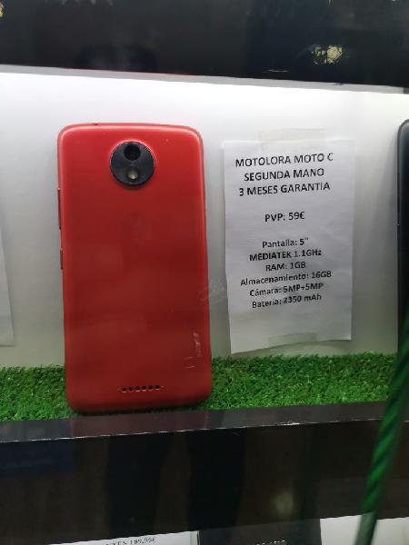Motorola moto c segunda mano 3 meses de garantia
