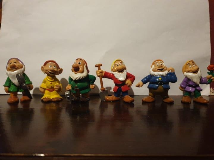 Muñecos 6 enanitos disney