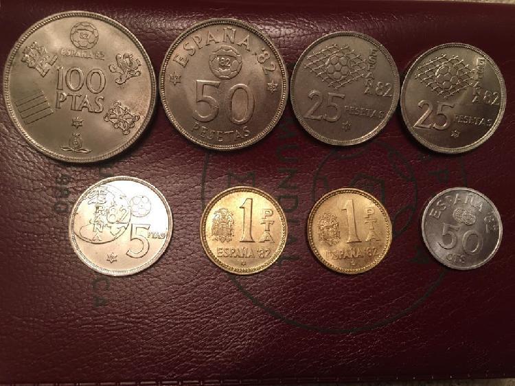 Monedas pesetas mundial españa 82. 1980