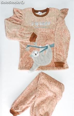 Pijama coralina mujer Lazy