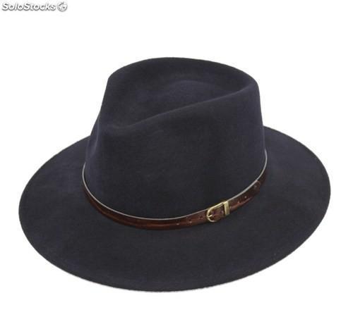 Sombrero indiana. fieltro de lana 100%. fabricado en italia