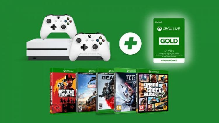 Xbox one s 1tb/ dos mandos/ 5 juegos. precintado