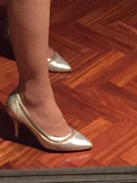 Zapatos piel plateados 38