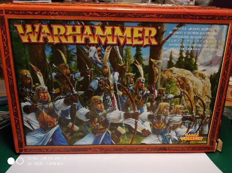 Altos elfos arqueros warhammer