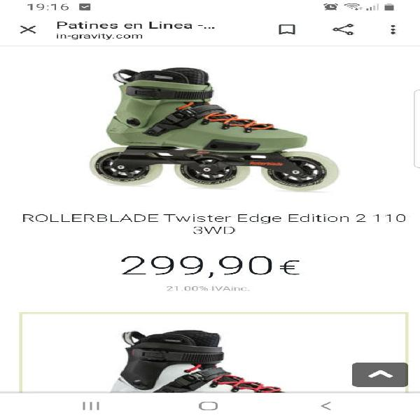Roller blade usados 1 vez 10minutos!! nuevos !!!!!