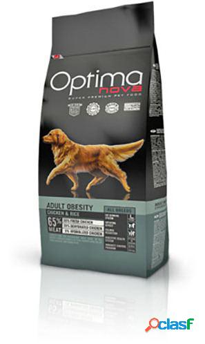 Optimanova adult obesity pollo y arroz 12 kg