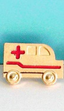 2,5 pin de ambulancia dorado