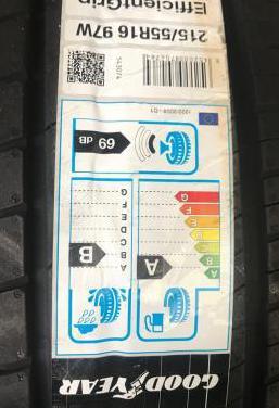 4 neumáticos goodyear 215/55r16 97w