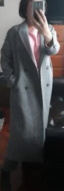 Abrigo largo de lana. talla m