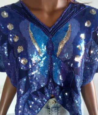 Blusa de seda de india talla única