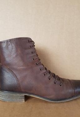 Botas planas de piel. talla 38
