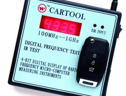 Comprobador de frecuencia mandos coches,portales