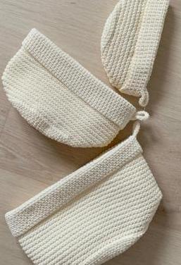 Cestos de hilo blancos (3uds) nuevos