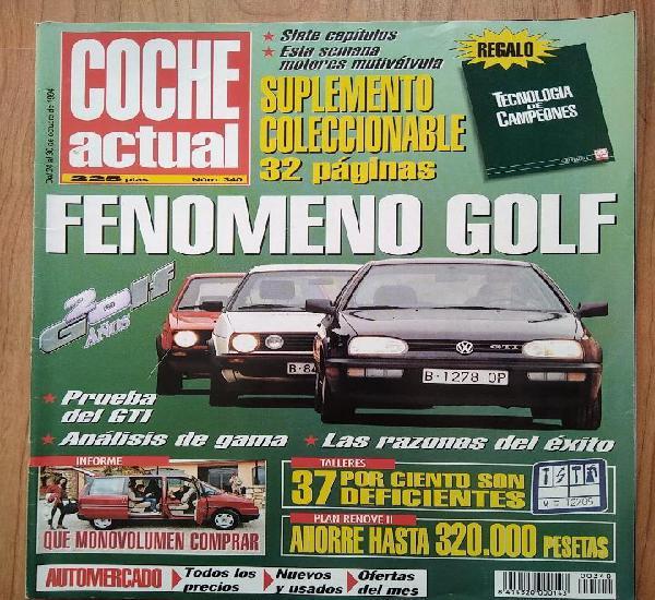 Coche actual oct 94 fenómeno volkswagen golf