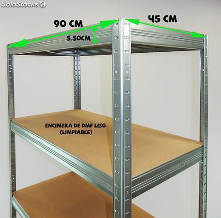 Estantería metálica sin tornillos galvanizada